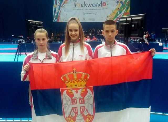 Tri medalje za kadete na prvenstvu Evrope
